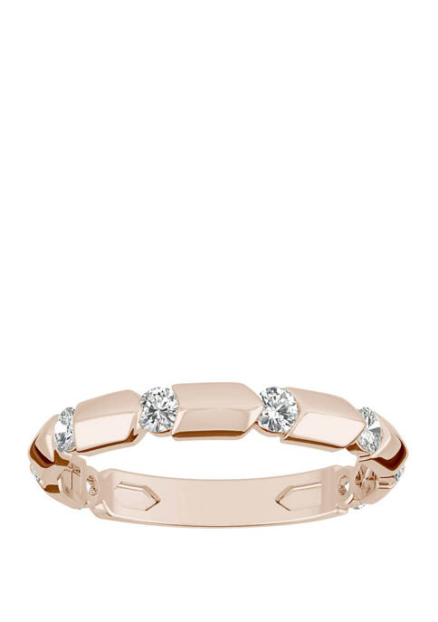 1/4 ct. t.w. Lab Created Moissanite Stackable Band in 14K Rose Gold