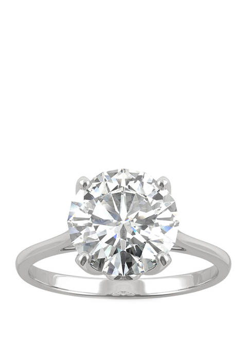2.7 ct. t.w. Lab Created Moissanite Engagement Ring in 14K White Gold