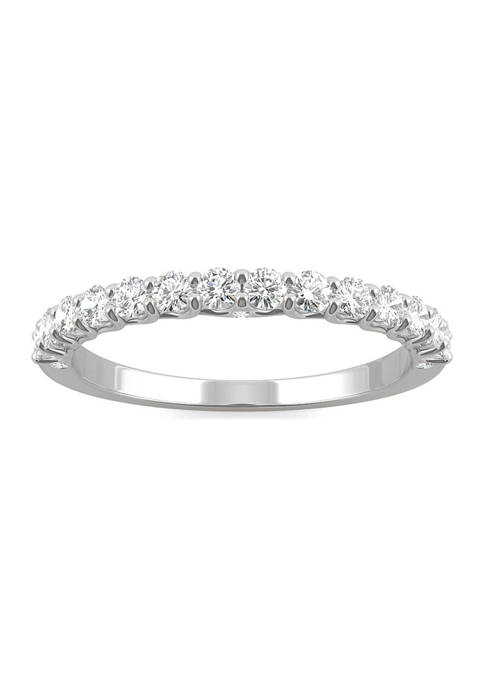 1/2 ct. t.w. Lab Created Moissanite Wedding Band in 14k White Gold