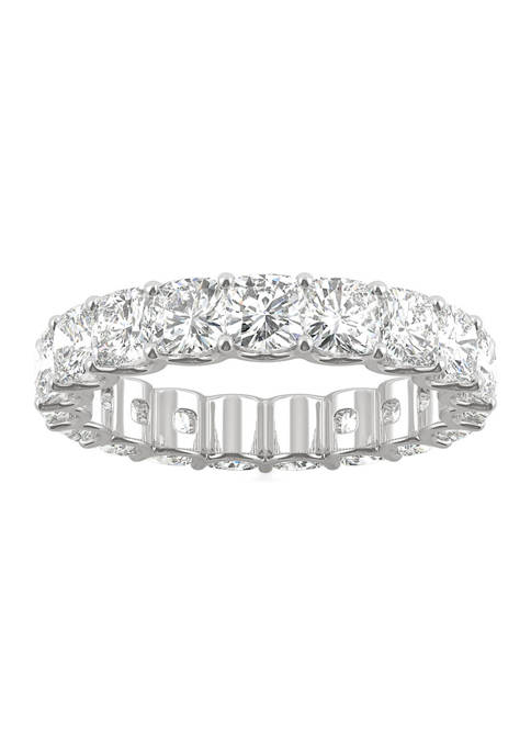 4 ct. t.w. Lab Created Moissanite Cushion Eternity Band in 14k White Gold