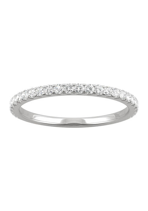 3/8 ct. t.w. Lab Created Moissanite Wedding Band in 14k White Gold