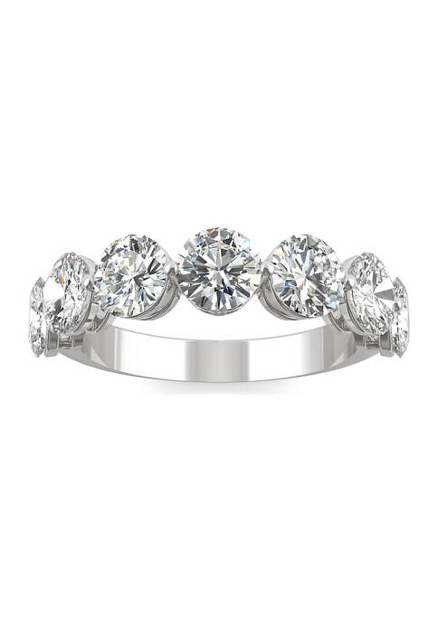 12 ct. t.w. Lab Created Moissanite Seven Stone Band in 14k White Gold