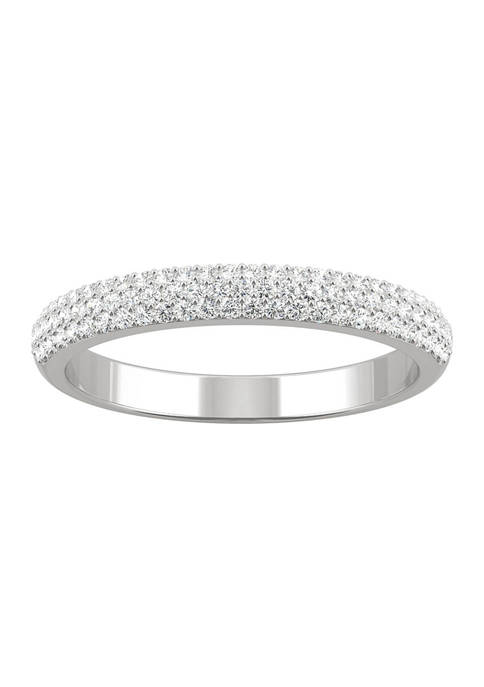 3/8 ct. t.w. Lab Created Moissanite Micropave Band in 14k White Gold