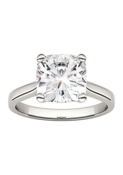 3-1/3 ct. t.w. Lab Created Moissanite Cushion Solitaire Ring in 14k White Gold