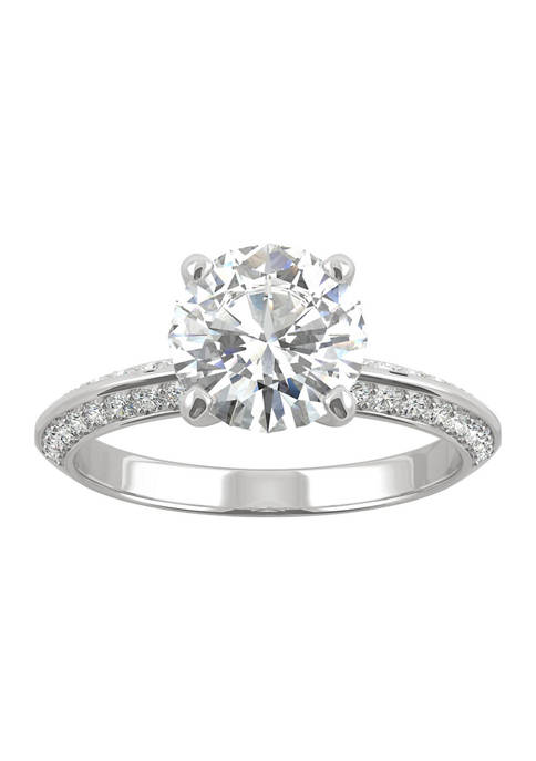 1/4 ct. t.w. Lab Created Moissanite Engagement Ring in 14k White Gold
