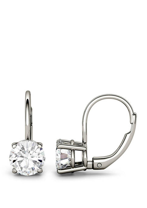 2 ct. t.w. Lab Created Moissanite Leverback Earrings