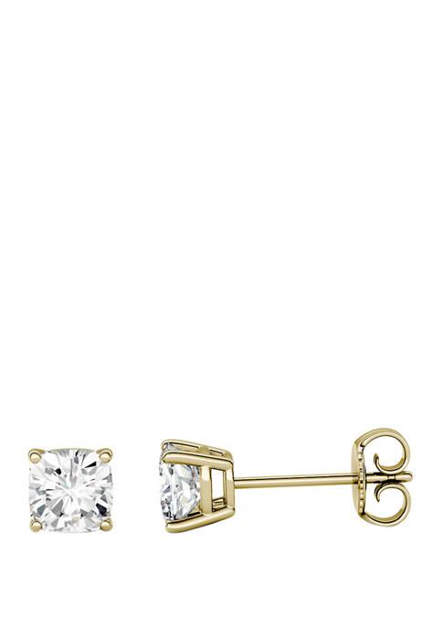 2.2 ct. t.w. Moissanite Stud Earrings in 14K Yellow Gold