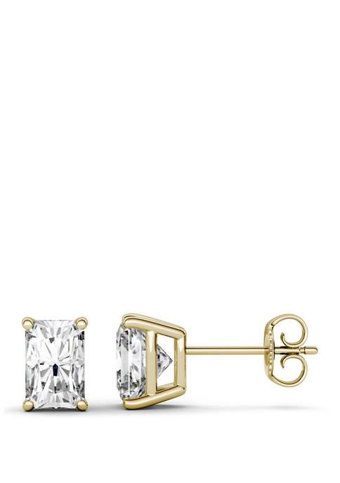 2.4 ct. t.w. Moissanite Stud Earrings in 14k Yellow Gold
