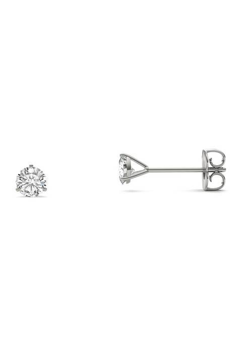 1/5 ct. t.w. Moissanite Martini Stud Earrings in 14K White Gold