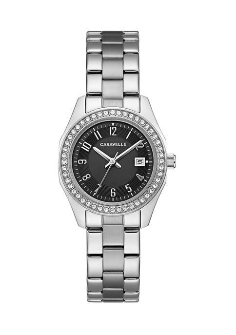 Caravelle by Bulova Womens Crystal Bracelet Watch