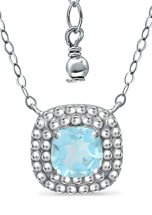 1.35 ct. t.w. Blue Topaz Necklace in Sterling Silver