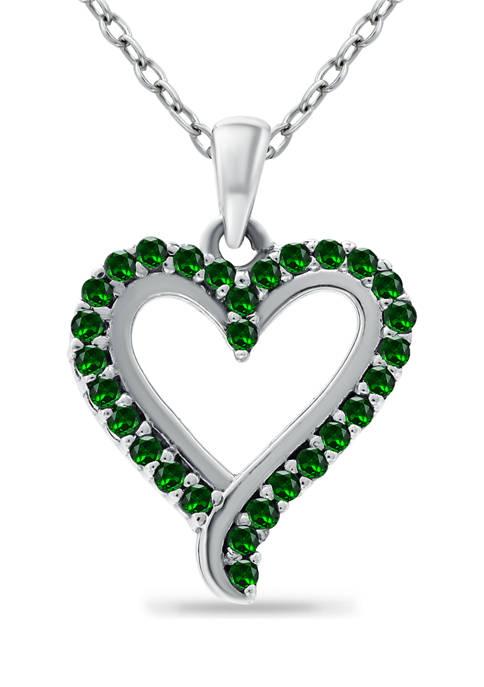 Belk & Co. 1/4 ct. t.w. Emerald Heart