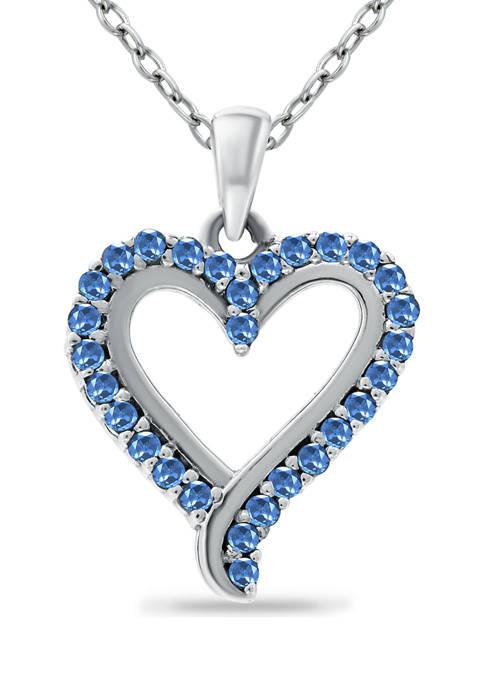 Belk & Co. 1/3 ct. t.w. Sapphire Heart