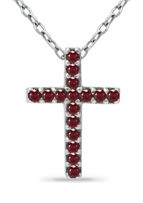 Belk & Co. 1/5 ct. t.w. Ruby Cross
