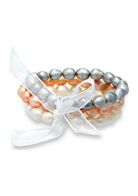 Belk & Co. Fresh Water Multi Color Pearl