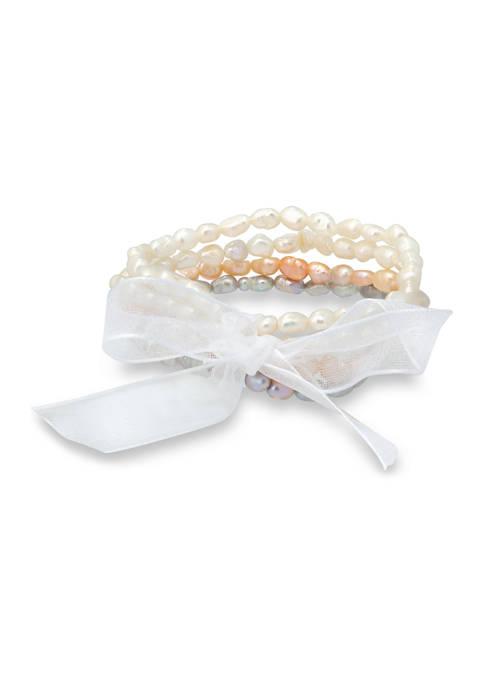 Freshwater Pearl 4-Strand Bracelet