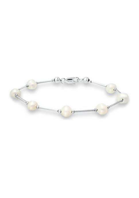 Belk & Co. Fresh Water Pearl Station Bracelet
