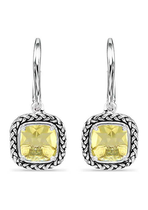 3.2 ct. t.w. Citrine Drop Earrings, Sterling Silver