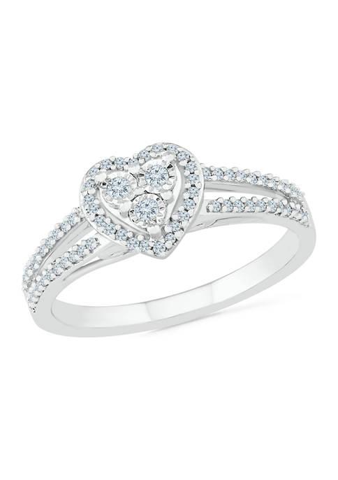 Belk & Co. 1/4 ct. t.w. Diamond Sterling