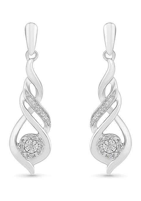 Diamond Accent Sterling Silver Fashion Earring