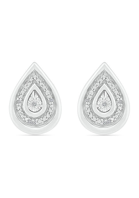 Diamond Accent Sterling Silver Fashion Earrings