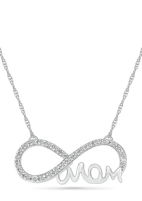 Diamond Accent Sterling Silver Infinity Mom Necklace