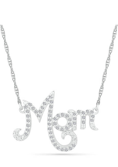 1/6 ct. t.w. Diamond Mom Necklace in Sterling Silver