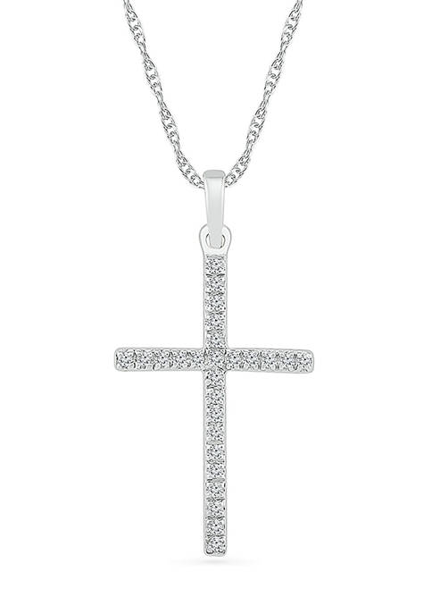 Belk & Co. Diamond Accent Sterling Silver Cross