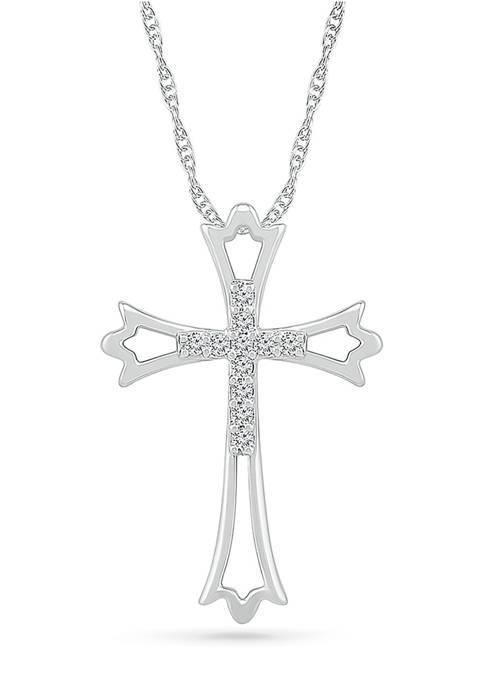 Belk & Co. Diamond Accent Sterling Silver Cross