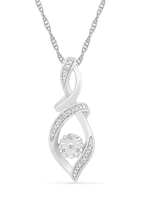 Diamond Accent Sterling Silver Fashion Pendant Necklace