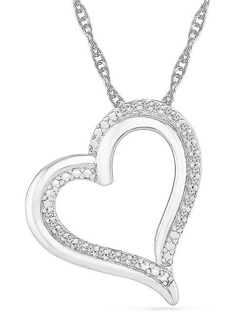 Belk & Co. Diamond Accent Sterling Silver Heart