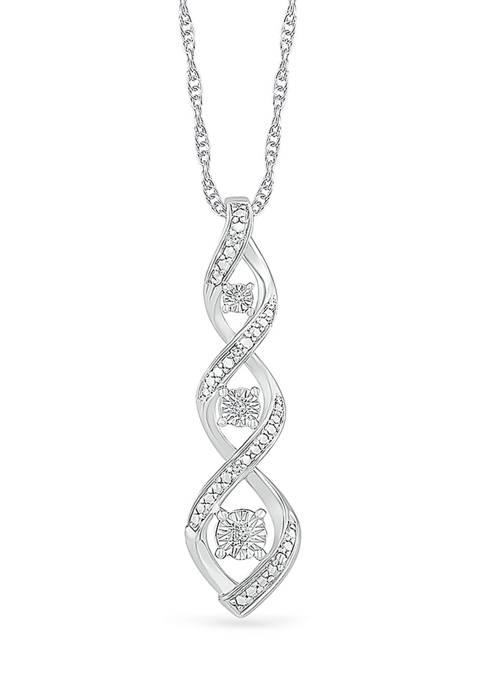 Diamond Accent Sterling Silver Fashion Pendant Necklace
