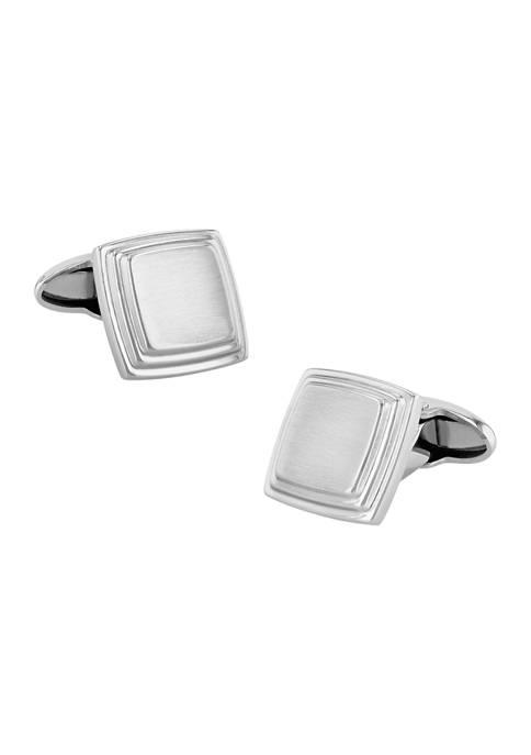 Belk & Co. Silver Tone Square Cufflinks in