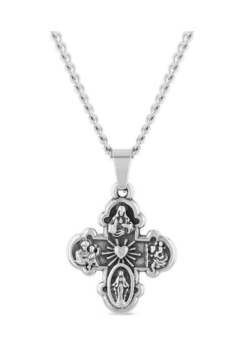 Belk & Co. All Saints Cross Pendant Necklace
