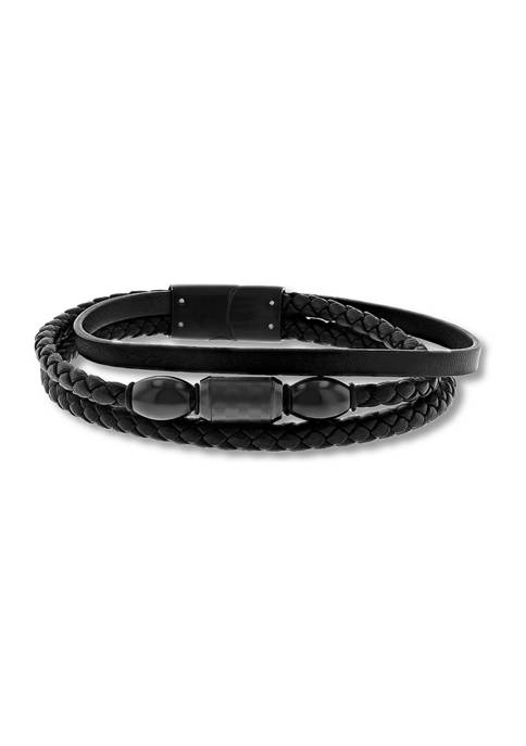 Belk & Co. Black Faux Leather and Black
