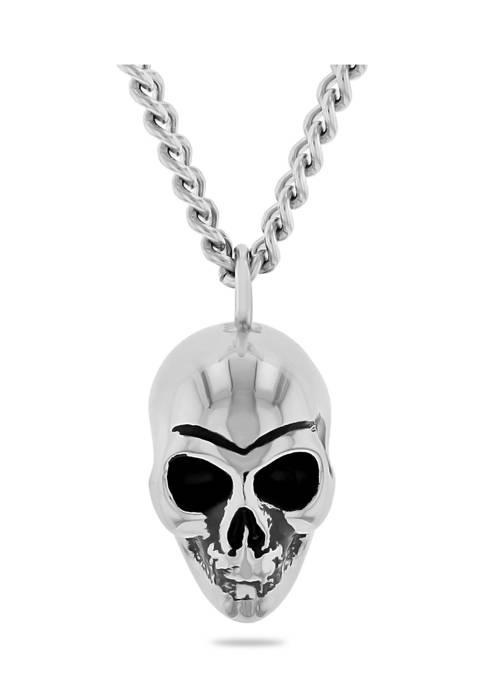 Belk & Co. Dark Skull Pendant Necklace in