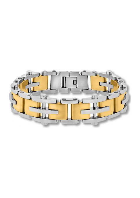 Belk & Co. Riveted Link Bracelet in Two-Tone