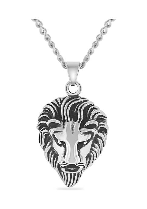 Belk & Co. Lions Head Pendant in Stainless