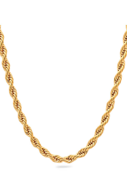 Belk & Co. Mens Rope Link Chain Necklace