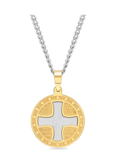 Belk & Co. Religious Cross and Medallion Pendant