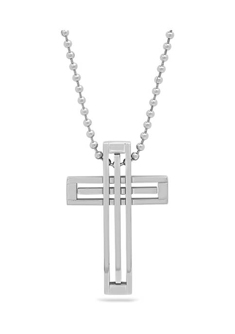 Belk & Co. Cross Pendant Necklace in Stainless