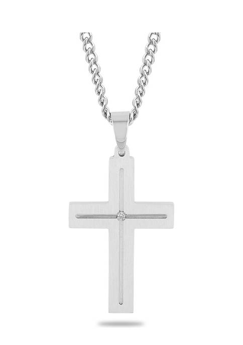 Belk & Co. Diamond Accent Flat Cross Pendant