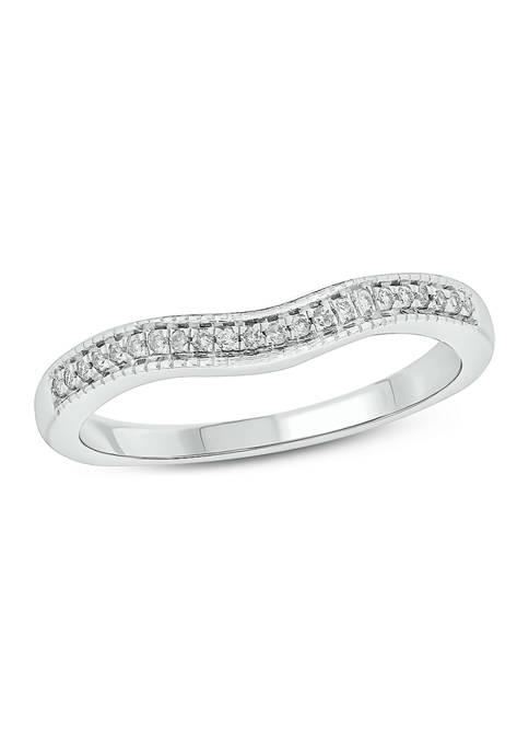 1/10 ct. t.w. Diamond Anniversary Band Ring in 10K White Gold