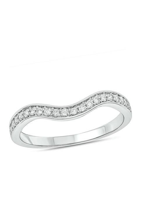 1/5 ct. t.w.  Diamond Anniversary Band Ring 14k White Gold