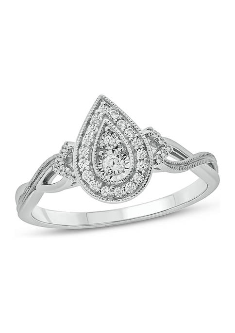 1/5 ct. t.w. Diamond Promise Ring in Sterling Silver