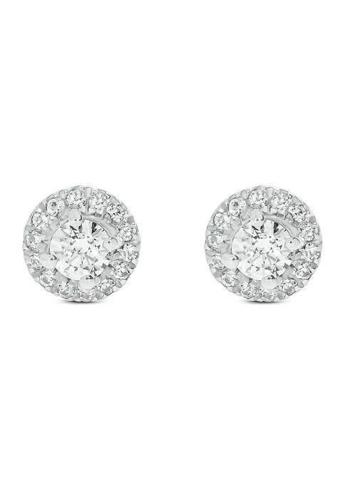 1/3 ct. t.w. Diamond Stud Earrings in 14Kt White Gold