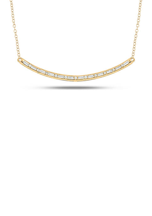 1/8 ct. t.w. Diamond Necklace in 14K Yellow Gold