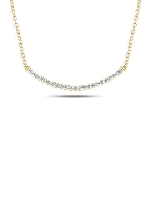 1/6 ct. t.w. Diamond Necklace in 14K Yellow Gold