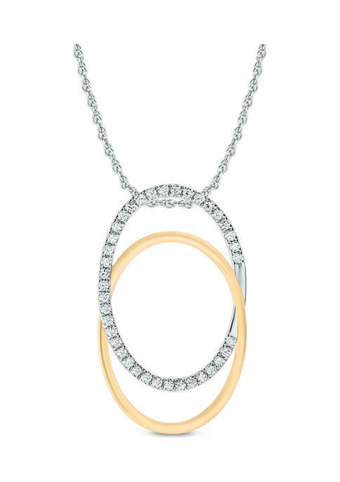 1/6 ct. t.w. Diamond Interlock Circle Pendant in 14K Yellow Gold