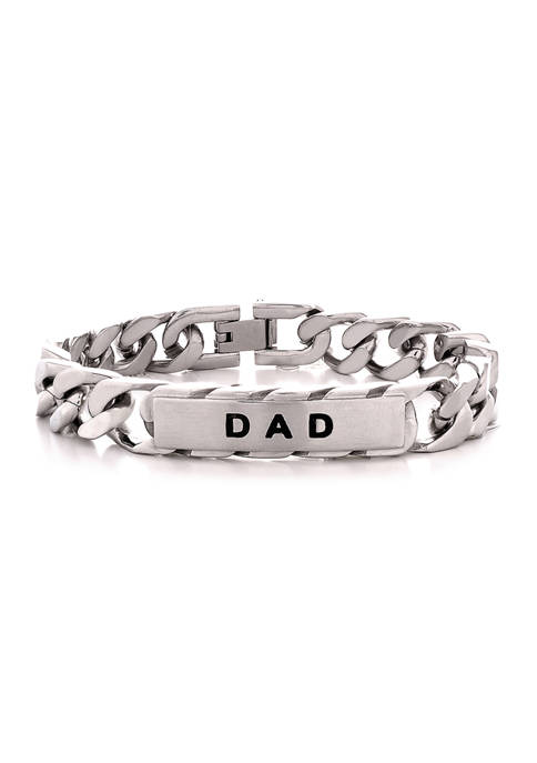 Stainless Steel DAD ID Style 8.5 Inch Bracelet